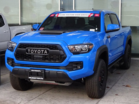 2019 Toyota Tacoma TRD Pro with replacement bumper