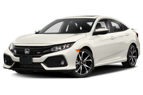 2020 Honda Civic with Pearl White Factory Matched Bumpers