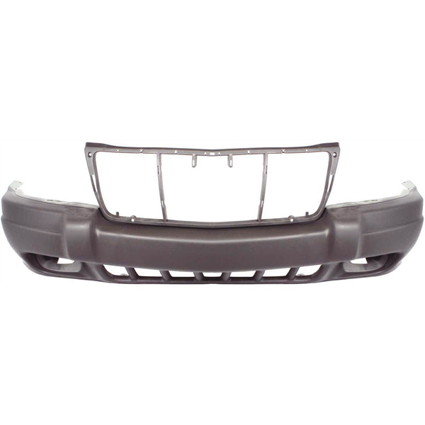 1999-2002 Jeep Grand Cherokee (Sport, W/ Fog Light Holes) Front Bumper Painted