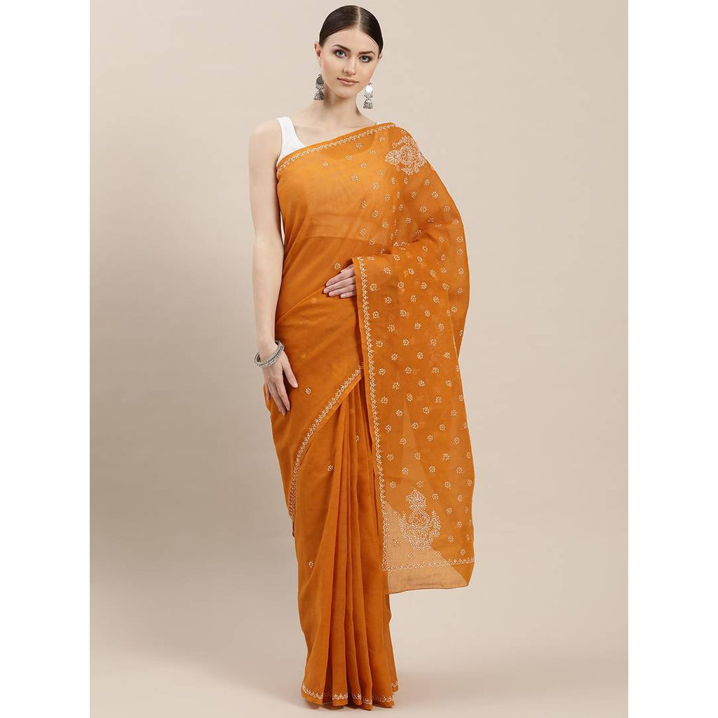 Women's Multicoloured Cotton Printed Saree with Blouse piece