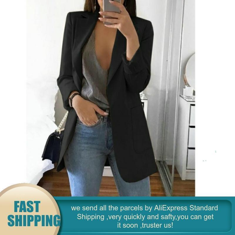 4XL Plus Size Casual Women's Office Interview Blazer - asheers4u