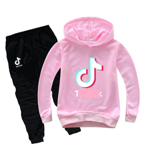 Tik Tok Cartoon printed hoodie track set - asheers4u