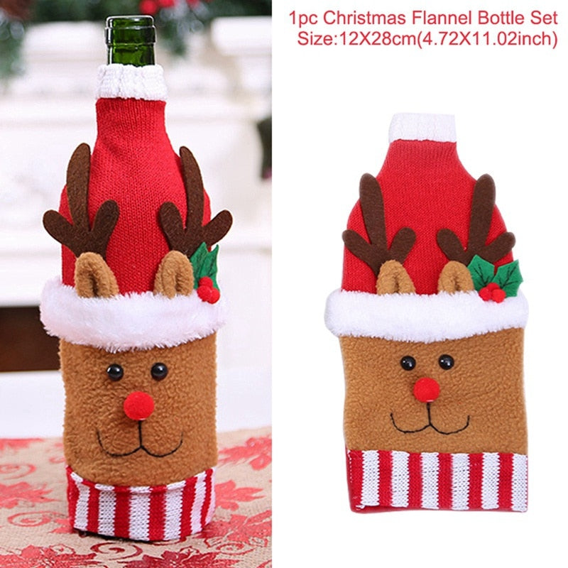 Santa Claus Wine Bottle Cover - asheers4u