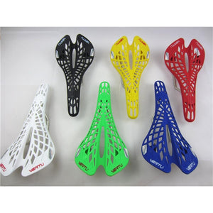 Super Light Plastic Bicycle Saddle Mountain MTB Bike Saddle Seat PVC Cushion Sillin Bicicleta 6 Color Cycling Part Factory Agent