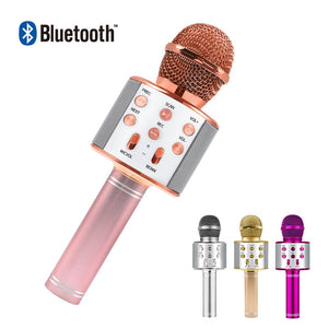 Bluetooth Karaoke Wireless Microphone with Speaker - asheers4u