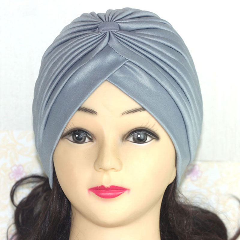 Women Shining Silver Gold Knotted Twisted Turban Headbands Cap - asheers4u