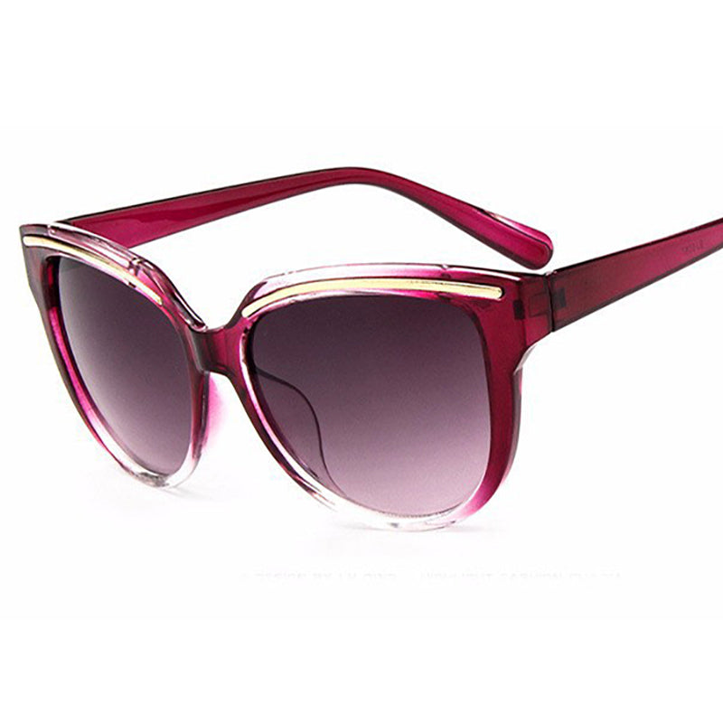 Women Brand fashion sunglass Cat Eye Frame - asheers4u