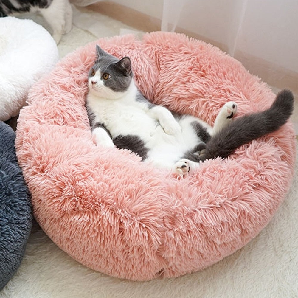 Washable Round Breathable 40-100cm Lounger Sofa Pet Bed Mat - asheers4u