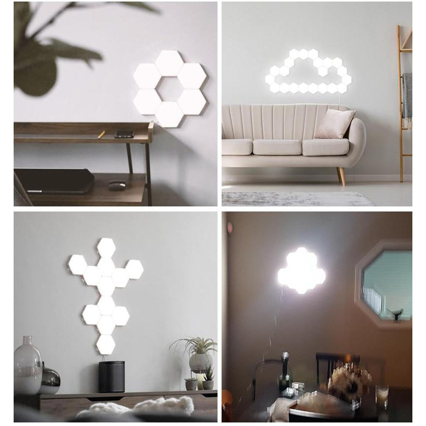 Wall Decor Touch LED Hexagonal Lamps - asheers4u