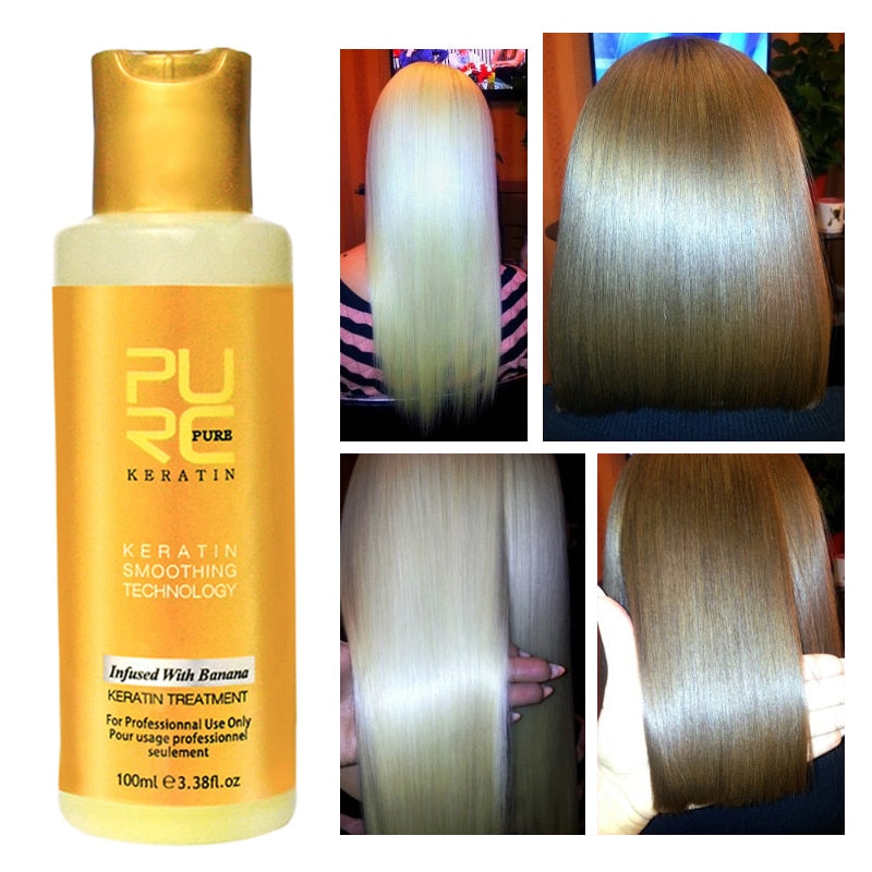 Pure Banana Keratin Hair Treatment Hair Re constructor (100ml) - asheers4u