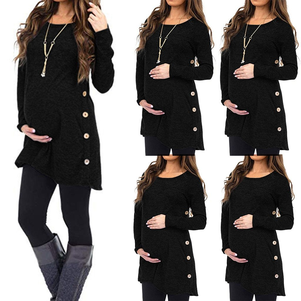 Women's Maternity Attractive Stylish comfortable cotton Soft Dress - asheers4u