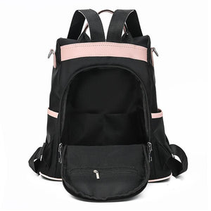 Casual Oxford Women Black Waterproof Nylon Backpack - asheers4u