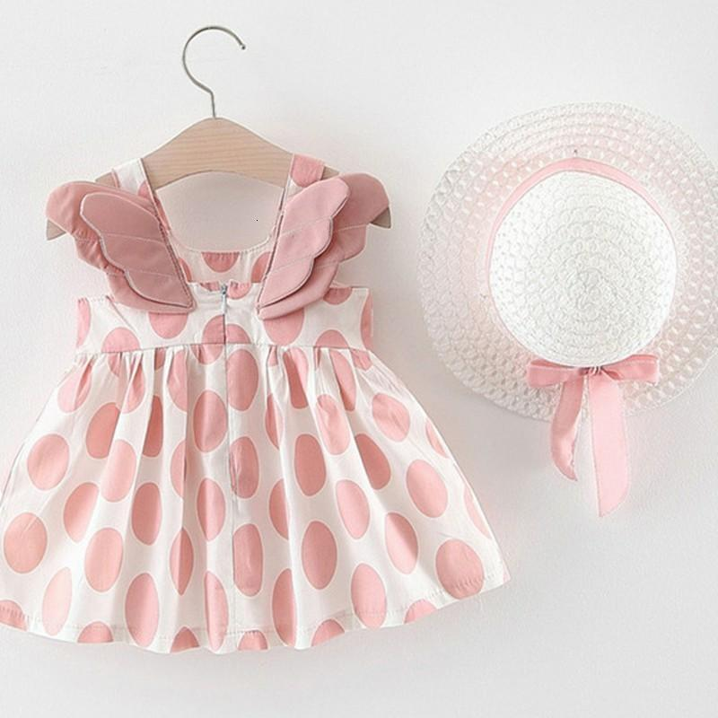 Summer Hat 2 Piece Set Baby Sleeveless Birthday Princess Dress - asheers4u