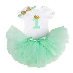 Girl Baby Christening Gown 1st Birthday dress - asheers4u