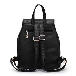 Leather Large Girl Schoolbag Travel Bag School Backpacks - asheers4u