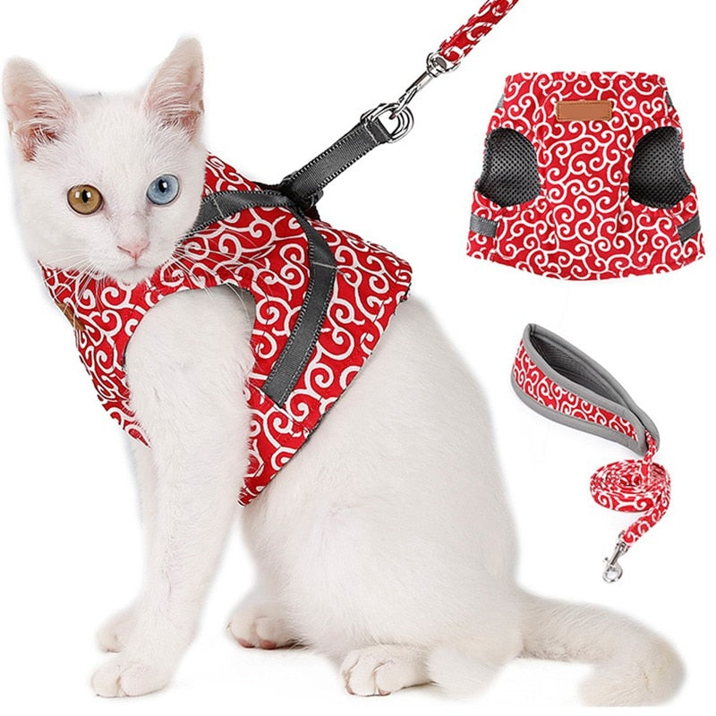 Dog Cat Vest Harness and Leash Set - asheers4u