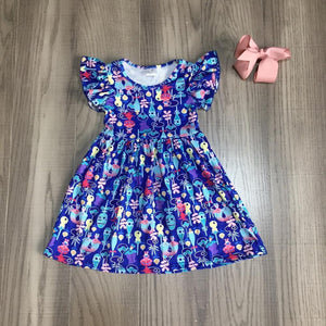Summer baby girls silk cotton knee length dress - asheers4u