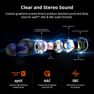 Universal Bluetooth Wireless Touch Control Earbuds with Qualcomm Chip - asheers4u