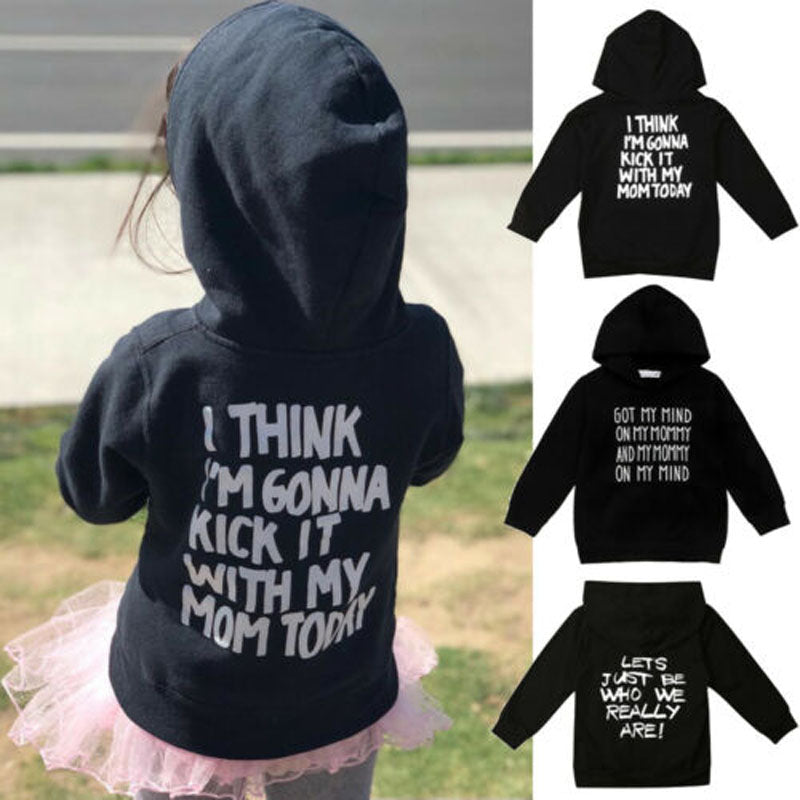 Casual Toddler Kids Long Sleeve Hooded Tops - asheers4u