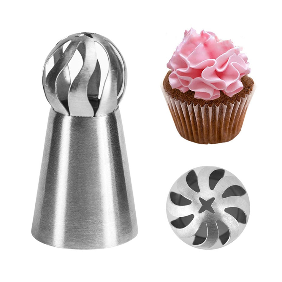 Stainless Steel Icing Pipe Nozzle for Pastry Cake Cream Designs - asheers4u