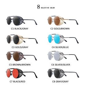 Branded Designer UV Protection Round Shaped Unisex Sunglasses - asheers4u