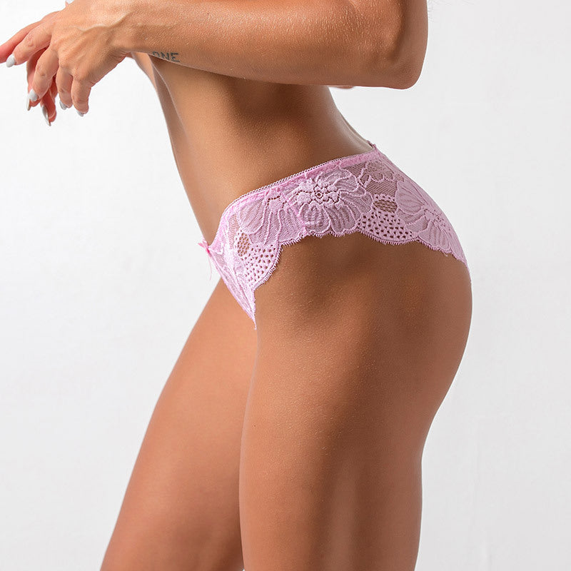 Seamless Lingerie Low-Waist Panties 3pc Set - asheers4u