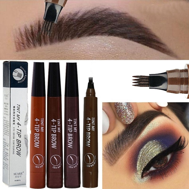 Long Lasting 5 Colors Nude Fine Sketch Liquid Eye Brow Pencil - asheers4u