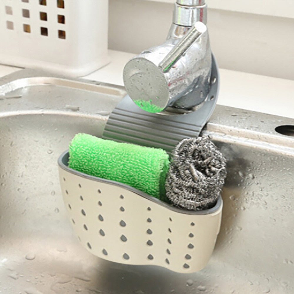 Useful Kitchen Sink Sponge Rack - asheers4u