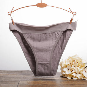 Sexy Low Waist Heart Embossed Antibacterial Cotton Panties - asheers4u