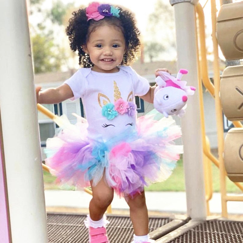 Unicorn Princess Dress for 12 Months old - asheers4u