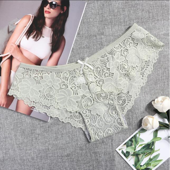 High Quality Sexy Low Waist Lace Panties - asheers4u