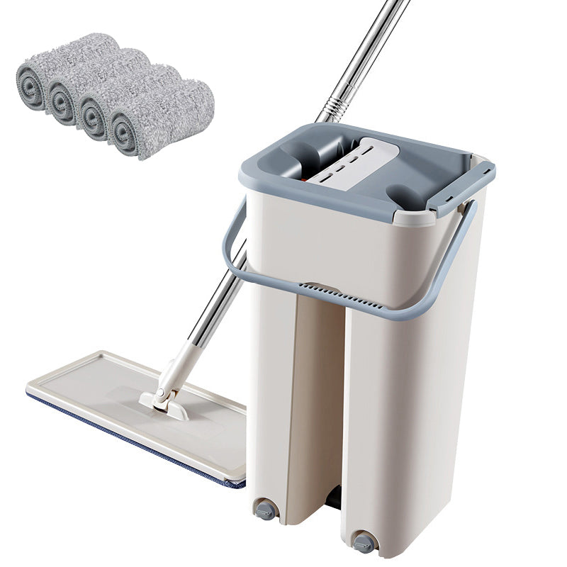 Mop with Self Wet And Cleaning System with Bucket - asheers4u