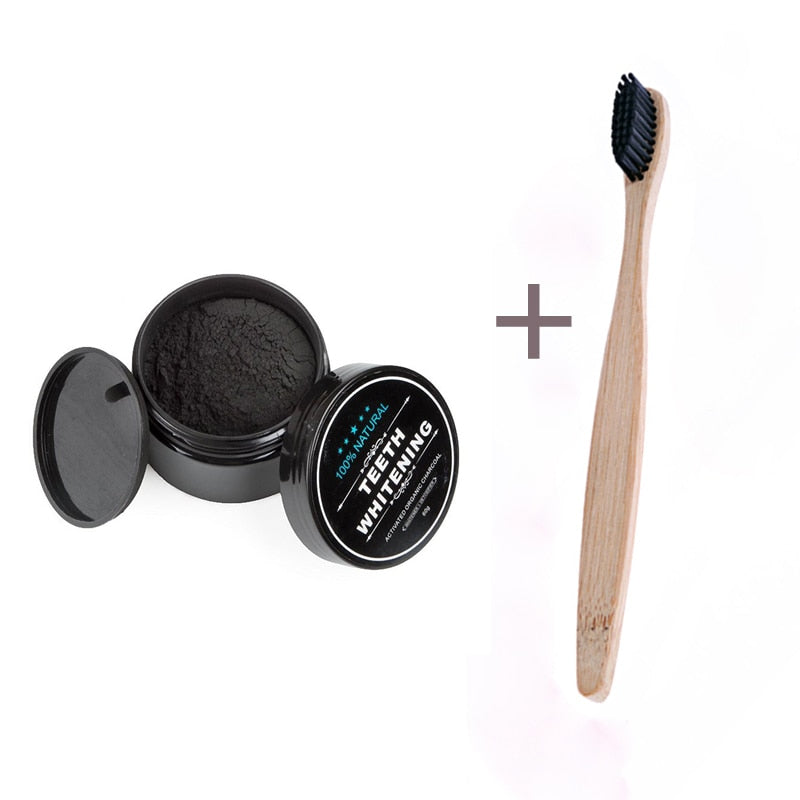 Natural Activated Charcoal Teeth Whitener Powder for Oral Hygiene - asheers4u