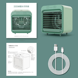 Mini air conditioning desktop USB small fan for student office cooler fan - asheers4u
