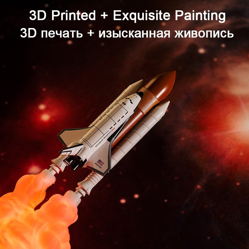 3D Print Space Shuttle and Moon lamps For Space Lovers - asheers4u