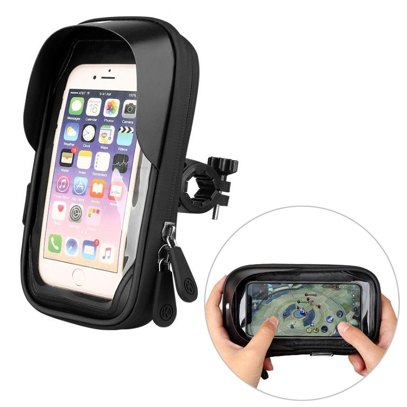 Waterproof Bicycle/Bike 6.4 inch Mount Cell Stand Phone Holder Bracket - asheers4u