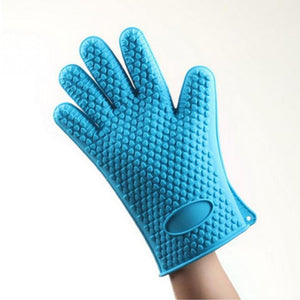 Heat Resistant Silicone Glove for Cooking Baking BBQ Oven Pot Holder - asheers4u