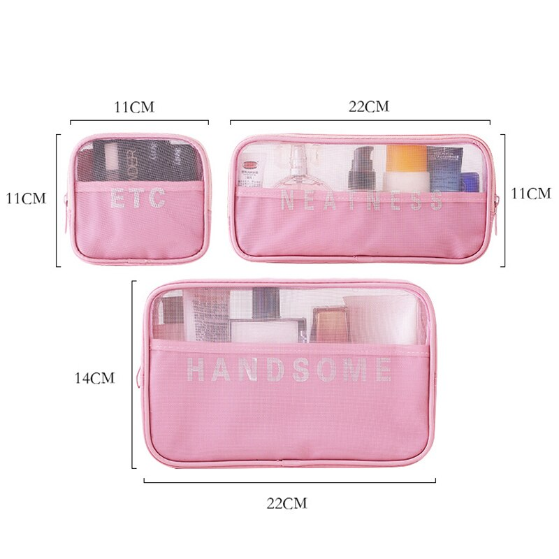 Travel Storage Pouch for Toiletry Beauty Wash Kit Organizer Bags - asheers4u
