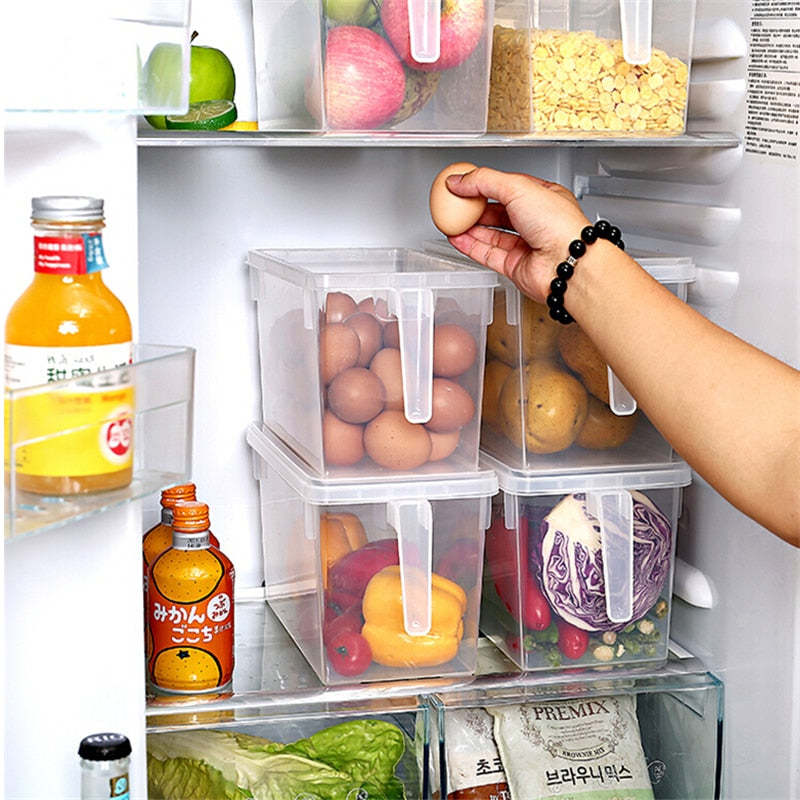 Kitchen Transparent Food Refrigerator Storage Boxes - asheers4u