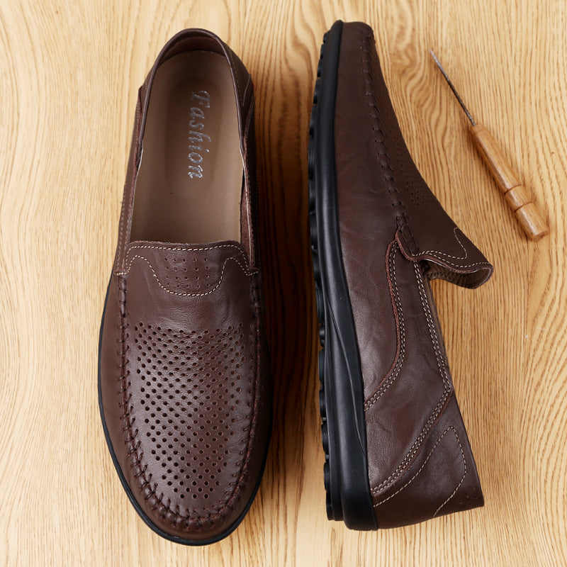 Luxury Branded Genuine Leather Men Casual Shoes (Plus Size 37-47) - asheers4u