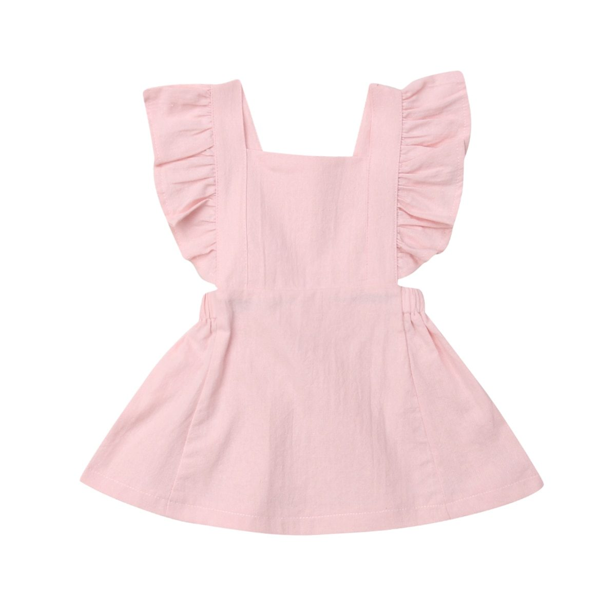 Cute Infant Kids Baby Girl Ruffle Princess Party Dress - asheers4u