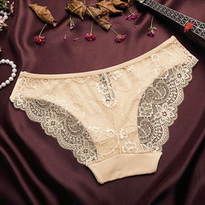 Sexy Lace Seamless Cotton Breathable Panties - asheers4u