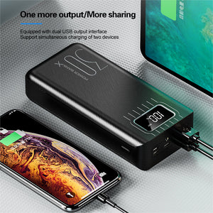 LED 2USB  Power Bank 30000mAh External Battery For iPhone Xiaomi Samsung Huawei - asheers4u