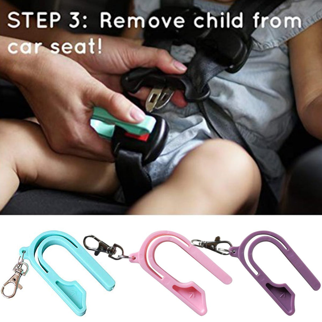 Sturdy plastic Baby Car Seat Buckle Release Green/Pink/Purple - asheers4u