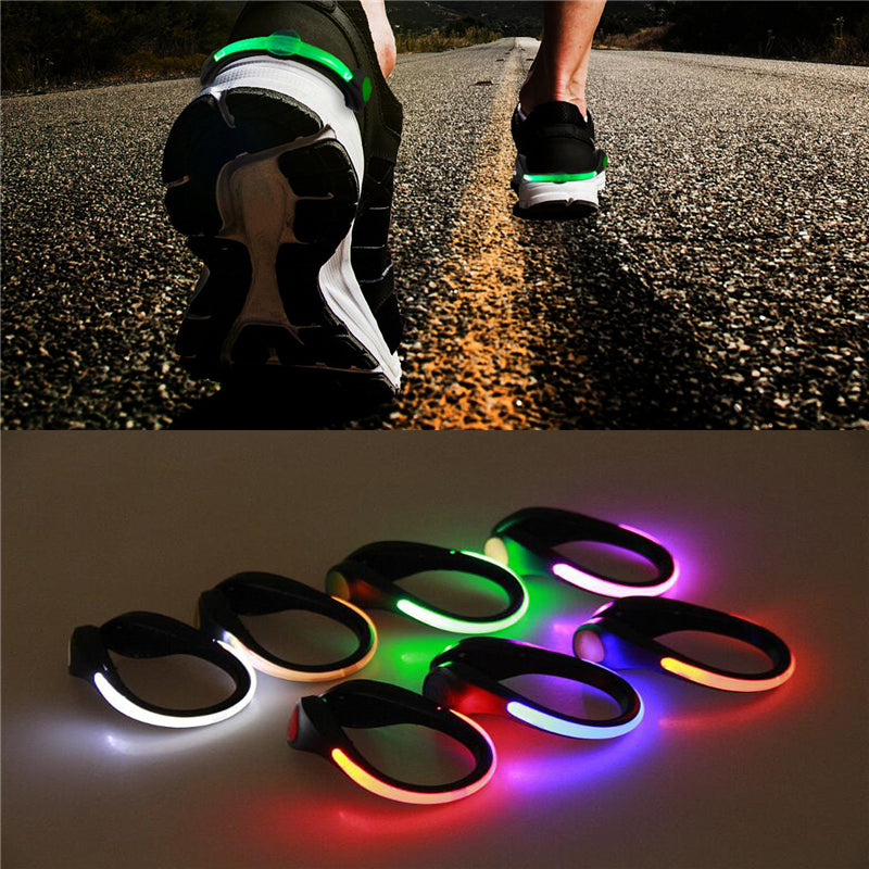 Outdoor Running cycling Safety Night Warn LED Shoe Clip - asheers4u