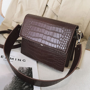 Designer Luxury Crocodile pattern High quality PU Leather Women Handbags - asheers4u