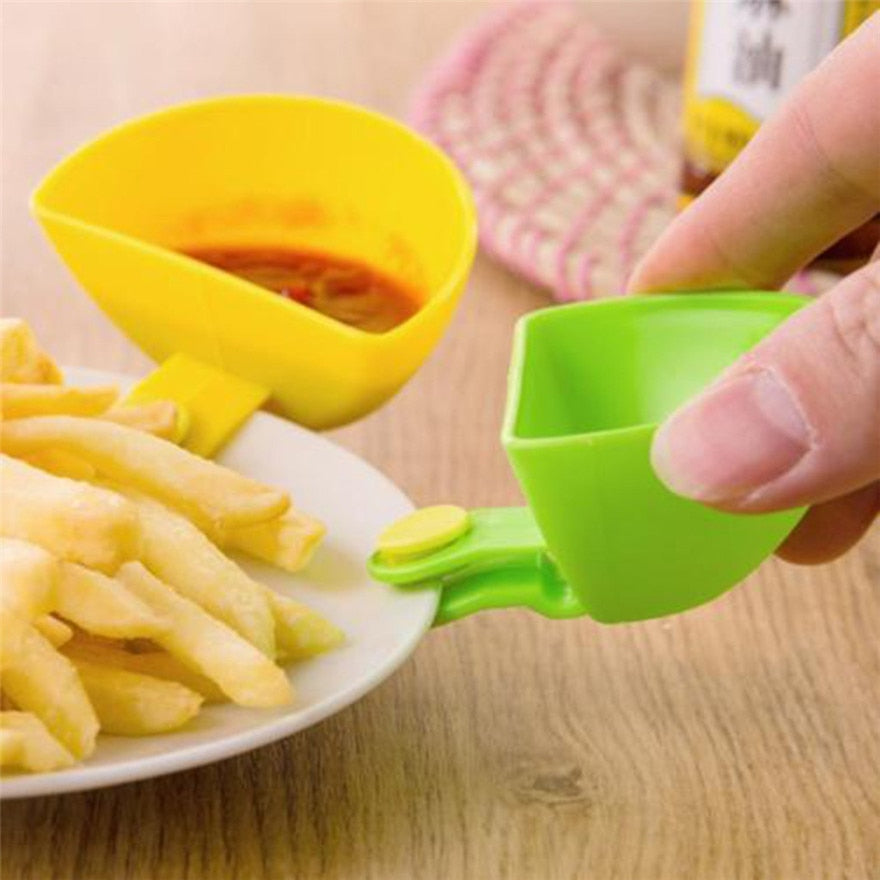 Chips, Mayonnaise, Salad, Ketchup Seasoning Bowl Dip Clips - asheers4u
