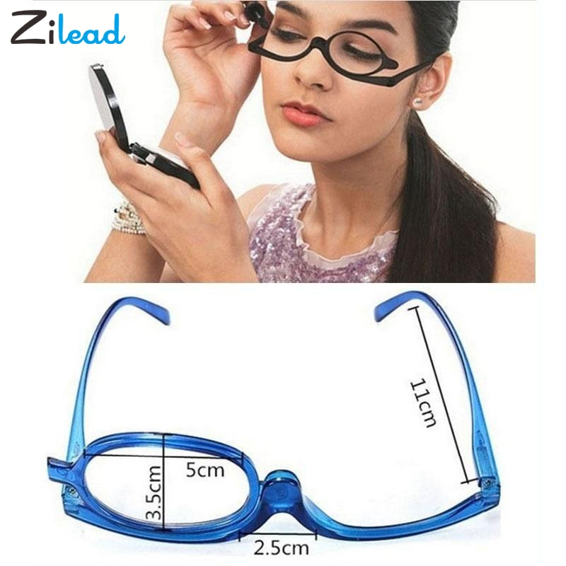 Rotating Makeup Magnifying Glasses Plus Folding Reading Glasses - asheers4u