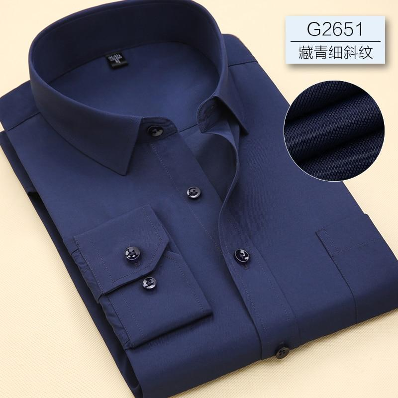 Men Long Sleeve Branded Solid Color Business Office Formal Shirt Plus Size till 7XL - asheers4u