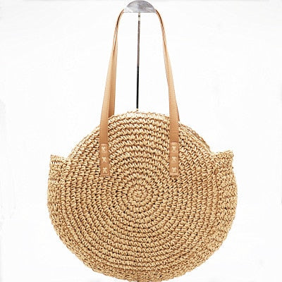 Woven Handmade Shoulder Beach Hand Bags for Women - asheers4u